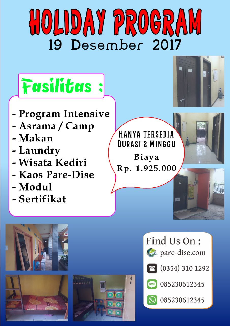 Paket Holiday 19 Desember