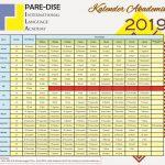 Kalender Akademik Kampung Inggris Pare-Dise 2019